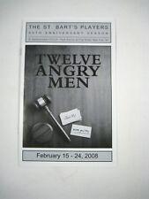 Twelve Angry Men Program St. Bart's Players Ticket 2008 Postcard Daniel Burke