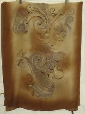 TERRIART Browns, Gray LES COPAINS Paisleys Sheer SILK 68x26 Lg Scarf-Vintage