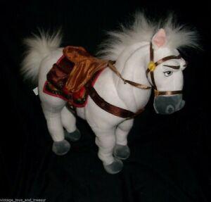 "15"" DISNEY STORE RAPUNZEL MAXIMUS WHITE HORSE STUFFED ANIMAL PLUSH TOY EXCLUSIVE"