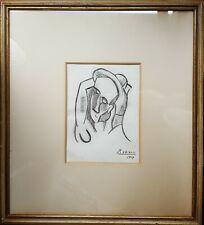 PABLO PICASSO (1881-1973) - Handsignierte Zeichnung - Datiert 1909 - Kubismus