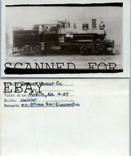 April 1927 Danner Veneer co #2  Mobile Alabama Heisler VINTAGE RAILROAD PHOTO