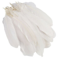 50pcs White Beautiful Large Goose Feathers 6-8 inches /15cm to 20cm High Quality
