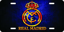 Real Madrid Blue Airbrushed car tag license plate 112