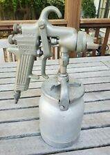 Vintage Binks Model 62 Paint Spray Gun And Pot Untested Needle Moves Nice