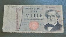 ITALY , VINTAGE 1969 BANKNOTE 1000 LIRE , GOOD.