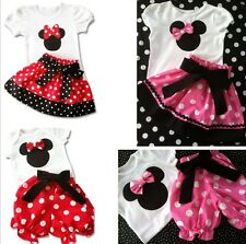 New Girl Minnie Top + Pants / Skirt Dress Outfit  Set size 1,2,3,4,5