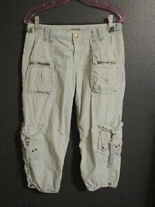 Da Nang China Surplus Lite Green Cotton Cargo Pants Women's S-M
