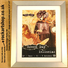 GREEN DAY Insomniac 1995 ORIGINAL Poster/Ad FRAMED Billie Joe Armstrong *WORLD