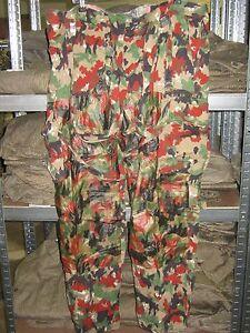 Suiza Ejército Pantalón Camuflaje Alpes M70 Talla 46-54