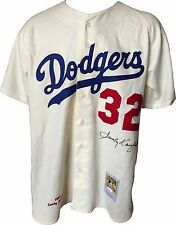Sandy Koufax Signed Dodgers 1962 M & ness wool Jersey #32 Autograph JSA COA