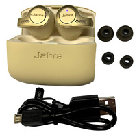 Jabra Elite 65t True Wireless Bluetooth Earbud Headphones Beige Gold Refurbished