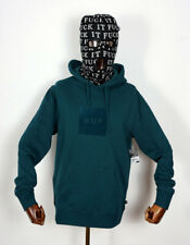 Huf Worldwide Hooded Sweatshirt Sweat Hoodie Pullover Box Logo Overdye Jade in S