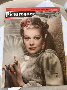 1946 I love Lucy Lucille Ball Picturegoer Magazine Vintage Excellent Condition