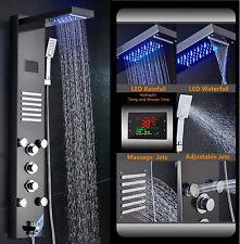 Led Cascada Lluvia De Acero Inoxidable Panel de ducha lluvia chorros de masaje de sistema de torre