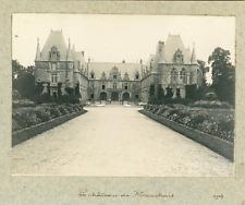 France, Hauts-de-France, Le château de Marchais, 1903 Vintage silver print Vinta