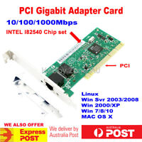 PCI Gigabit Ethernet Network Card 1000Mbps Adapter Intel 82540 Chip Low Profile