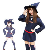 Little Witch Academia Akko Sucy COS Uniform Halloween Witch Cosplay Costume
