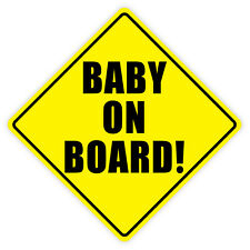 Baby on Board car auto etichetta sticker 10cm x 10cm