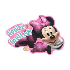 8 Disney Minnie Mouse You're Invited Childrens Birthday Party Invite Invitations