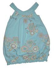 SO 14 paglie Vestido túnica, azul flores talla 110