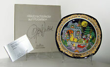 "Bjorn Wiinblad - 1984 Christmas Carols On Porcelain Wall Plate- ""Jingle Bells"""