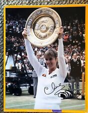 CHRIS EVERT SIGNED 11 X 14 PHOTO W/COA IN PERSON AUTOGRAPH POSE 2