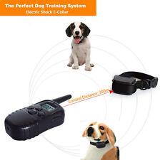 Collier de dressage electrique chock pour chien PORTEE 300M avec petit écran FRA