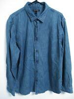 Banana Republic Tailored Slim Fit XL Long Sleeve Button Up Blue Jean Denim Shirt