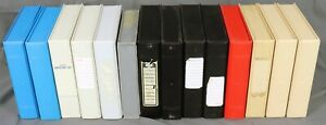 Lot of Fourteen Plastic 5.25 Inch Diskette Library Boxes Hold 10 Disks Each