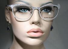 Women's Premium KUNOQVIST 'MOLKUR' Black & White Embossed Pattern Glasses Frames