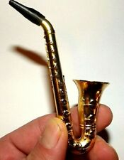3.75 Saxophone Metal Tobacco Smoking Pipe & Pipe Screens Collectible Pipes