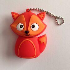 1 New Cute Novelty Fox, 128MB USB Flash Drive Memory Stick