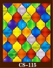 Stickers Window Films Foil Frosted Stained Glass PVC Self Adhesive Geometric