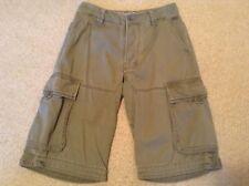 Fat Face Green Kharki Button Up Shorts, Size 30 Waist
