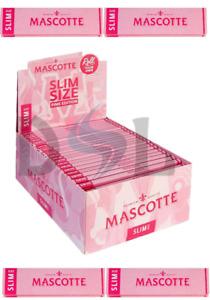 Mascotte King Size Slim Pink 100% Hemp Smoking Rolling Papers Extra Thin Skins
