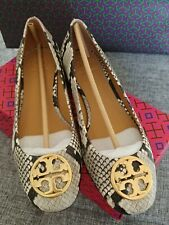 TORY BURCH Chelsea  25MM Ballet Flats size 6.5 Stamped Snake Printed Leather