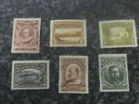 NEWFOUNDLAND POSTAGE STAMPS SG100-105 (NO 100A) 1910 LIGHTLY MOUNTED MINT