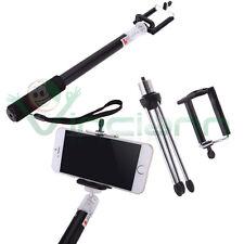 Asta telescopica NERA foto selfie allungabile+Cavalletto per iPhone 4 4S 5 5 A8T