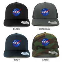 Small NASA Insignia Embroidered Patch Emblem Snapback Mesh Trucker Cap