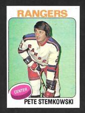1975-76  TOPPS HOCKEY ,  # 303 , PETE STEMKOWSKI , NEW YORK RANGERS