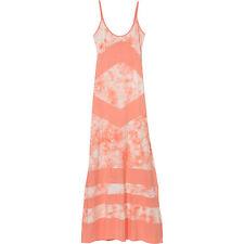 NEW* RIP CURL SURF Sz XS Maxi Dress Bikini Cover Up Peach White $60 Retail