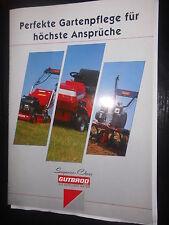 Prospekt sales brochure Gutbrod superior class cortacésped escarificadores técnica