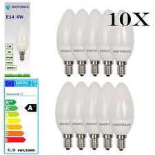 10 x Ampoule LED E14 6W 270° 470Lumens