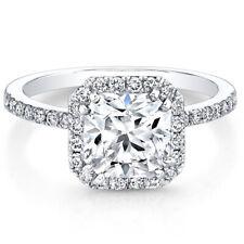 GIA Certified Diamond Engagement Ring 18k White Gold 1.67 Carat Cushion Cut