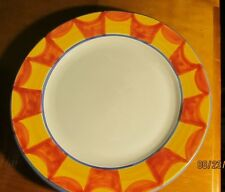 Made in Italy ~ Ceramic Chop Plate/Charger ~ Handpainted Border Orange/Yellow