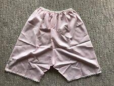 Vintage Pettipants Tap Pants Underwear Slip Underpants Pink Cotton Lace Trim Nos