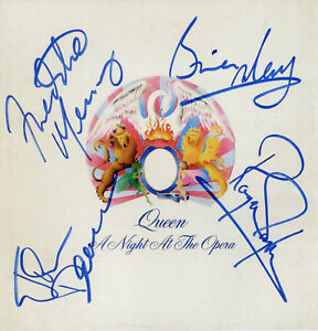 QUEEN Signed 'A Night At The Opera' Photograph - Rock / Freddie Mercury preprint