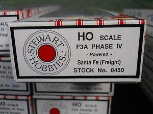 HO STEWART KATO POWERED F3A PHASE IV LOCOMOTIVE SANTA FE FREIGHT NIB 8450