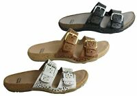 Earth Antigua Womens Comfortable Supportive Leather Slides Sandals - ShopShoesAU