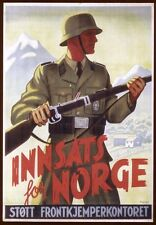 German Norway Norge WW2 Waffen SS large Poster